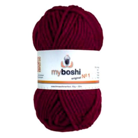 Bordeaux Red 135 - Wool Balls 50g For DMC Myboshi Beanie Hats